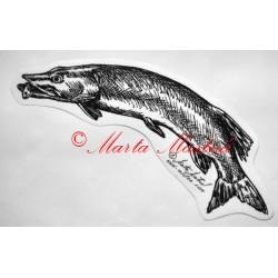 Samolepka štika, ryba, ryby
