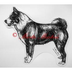 Samolepka karelský medvědí pes