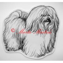 Samolepka havanský psík, coton de Tulear
