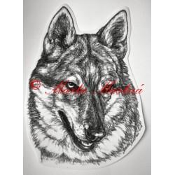 Samolepka československý vlčák, vlk