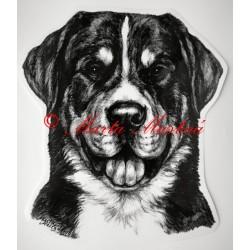 Samolepka velký švýcarský salašnický pes