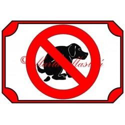 Tabulka zákaz venčení