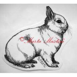 Samolepka králík zakrslý