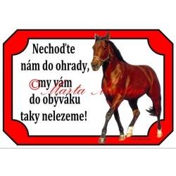 Tabulka kůň, koně