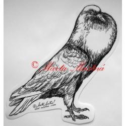 Samolepka holub český stavák