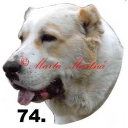 Samolepka středoasijský pastevecký pes, středoasiat archiv