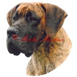 Samolepka německá doga archiv