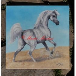 Obraz arabský plnokrevník, koně, olejomalba na plátně