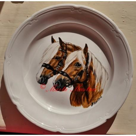 Malovaný talíř haflingové