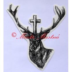Samolepka jelen, svatý Hubert