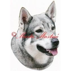 Samolepka švédský losí pes, jämthund