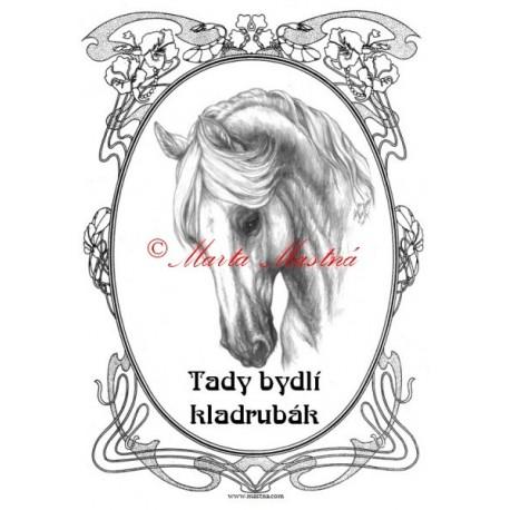 Tabulka kladrubský kůň, koně
