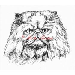 Samolepka kočka perská