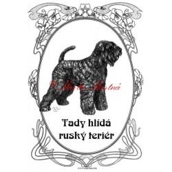 Tabulka ruský teriér, černý ruský teriér