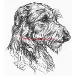 Samolepka deerhound, skotský jelení pes, chrt