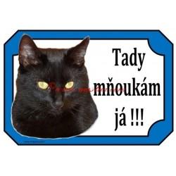 Tabulka kočka černá