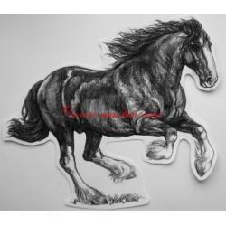 Samolepka shire horse , kůň, koně