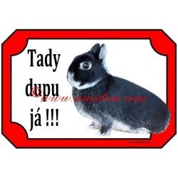 Tabulka králík zakrslý bílopesíkatý