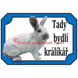 Tabulka králík velký světlý stříbřitý
