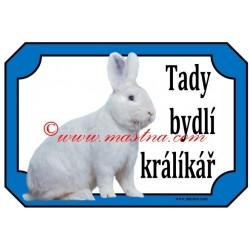 Tabulka králík vídeňský bílý