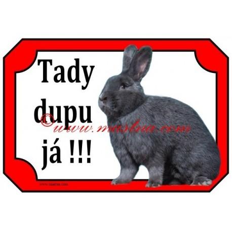 Tabulka králík vídeňský modrý