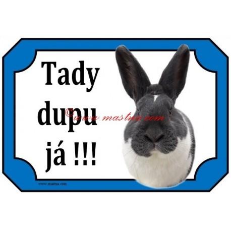 Tabulka králík meklenburský strakáč modrý