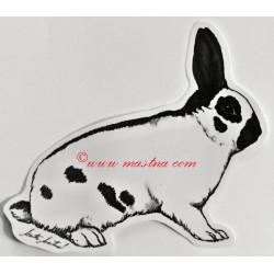Samolepka králík český strakáč