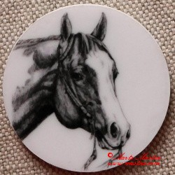 Kůň paint horse, western magnet nebo placka