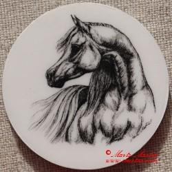 Kůň arabský plnokrevník magnet nebo placka