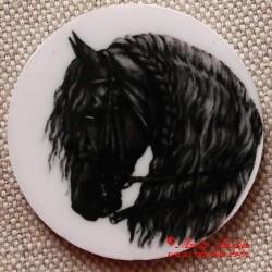 Kůň fríský magnet nebo placka