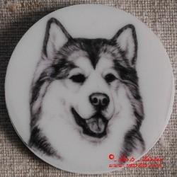 Aljašský malamut magnet nebo placka