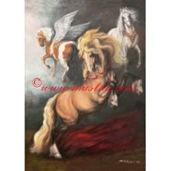 """Autorský tisk ,,Rubensovi koně"""""""