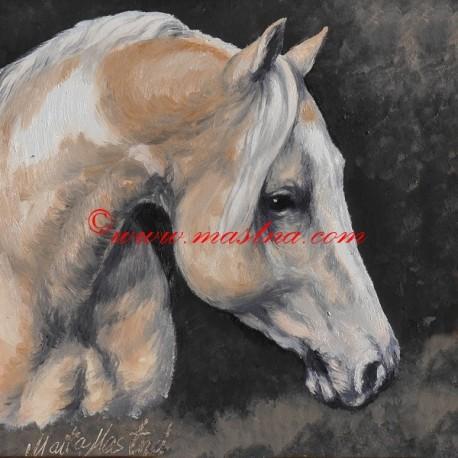 Obraz paint horse, koně, olejomalba - tisk