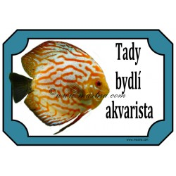 Cedulka akvaristika, ryba, terčovec