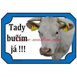 Cedulka kráva charolais, skot