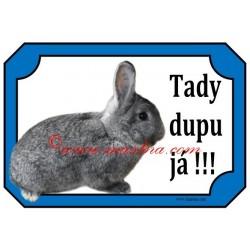 Cedulka králík činčila malá