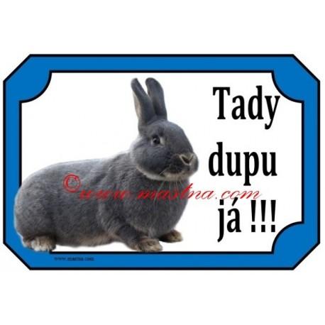 Cedulka králík perlový