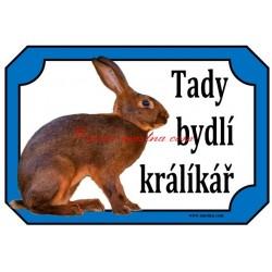 Cedulka králík zaječí