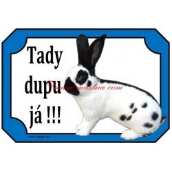 Cedulka králík německý obrovitý strakáč
