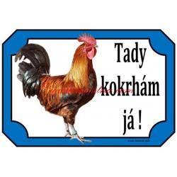 Cedulka slepice, kohout, drůbež, česká zlatá kropenka
