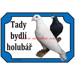 Cedulka holub poštovní