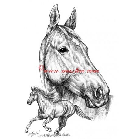 Samolepka Železník, kůň, koně