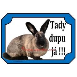 Cedulka králík kuní velký