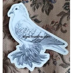 Samolepka (oboustranná) holub česká čejka