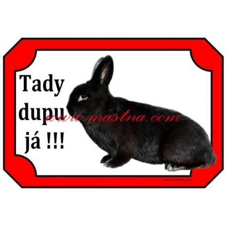 Cedulka králík aljaška