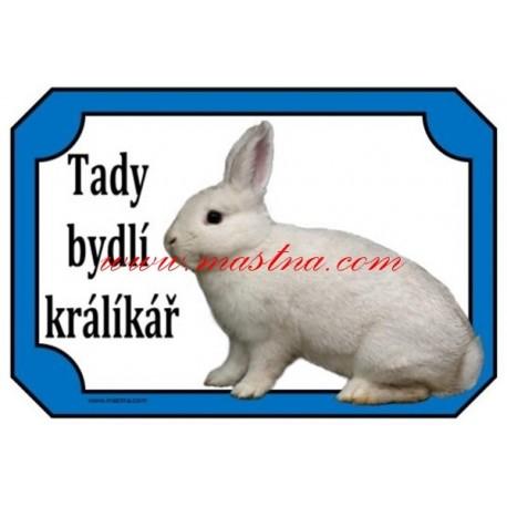 Cedulka králík český černopesíkatý