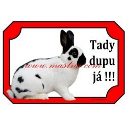 Cedulka králík český strakáč