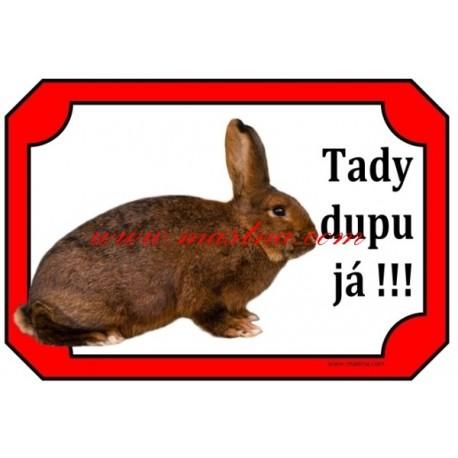 Cedulka králík dailenar