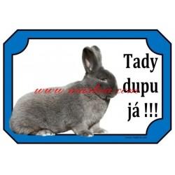 Cedulka králík vídeňský modrý