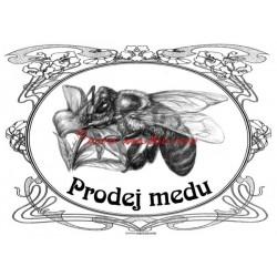 Tabulka včela - prodej medu